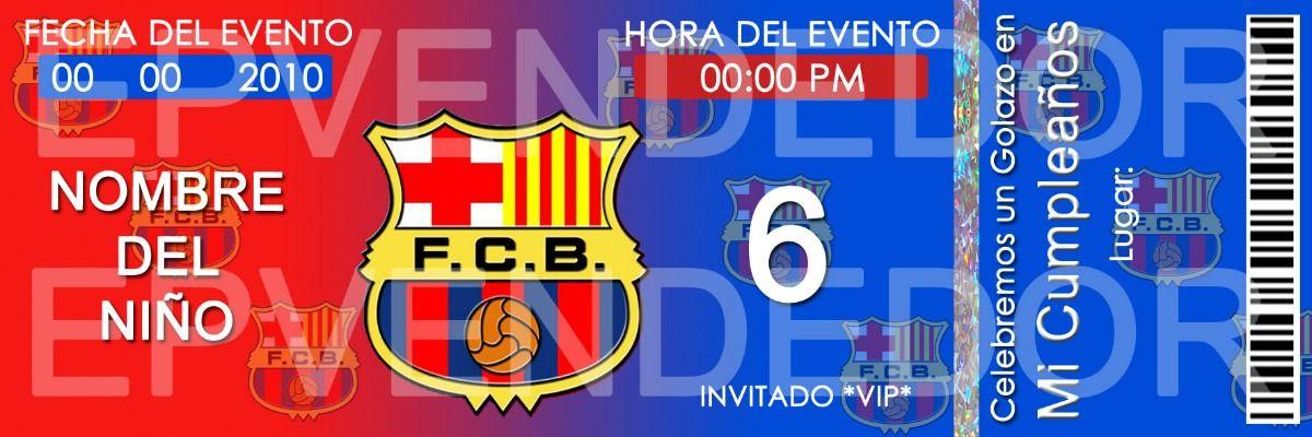 Tarjetas De Invitacion Barcelona Futbol Club Invitaciones