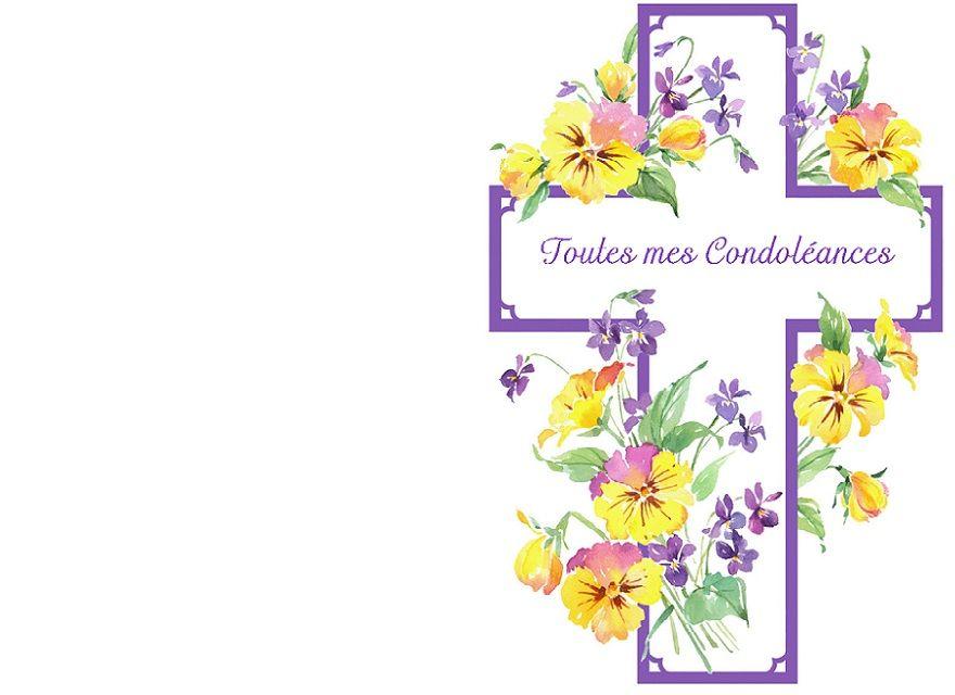 Carte De Condoleances Pour Un Deces A Imprimer Carte
