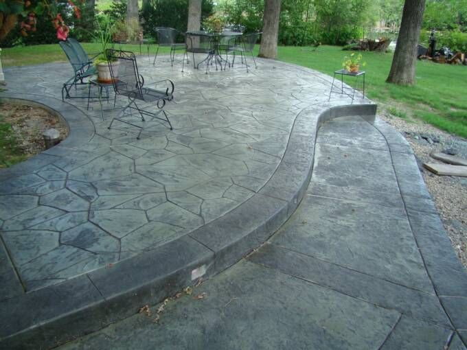 Stamped Concrete Patio Designs Ideas Nice Concrete patio