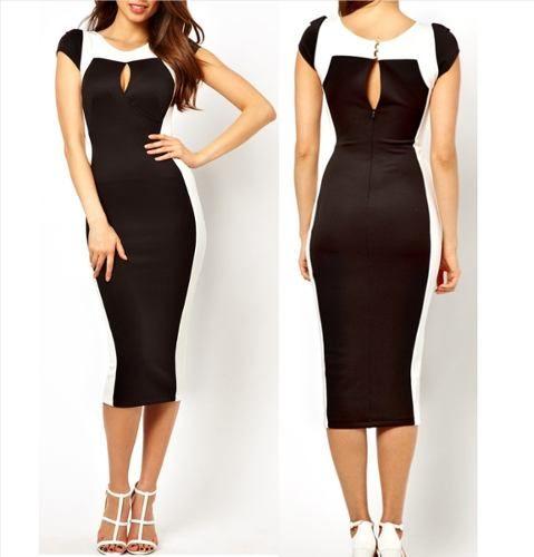 Fotos de vestidos negro y blanco