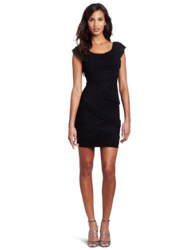 3cbed88429 BCBGMAXAZRIA Womens Briana One Shoulder Mushroom Pleated Dress ...