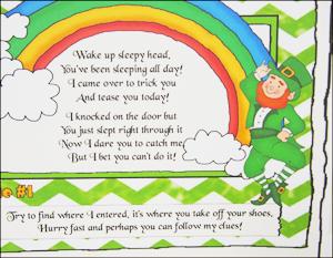 "Online Treasure Hunt Ideas ""Liam The Leprechaun"