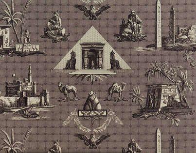 Monuments D Egypte B1818001 Designed By Pierre Frey Monuments La Malmaison Toile