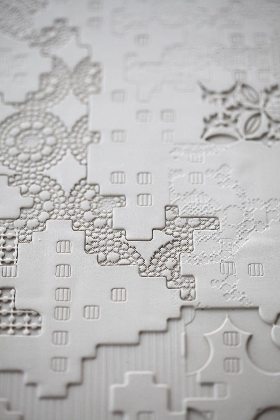 home accessories: modern concrete tile basementbas relief models