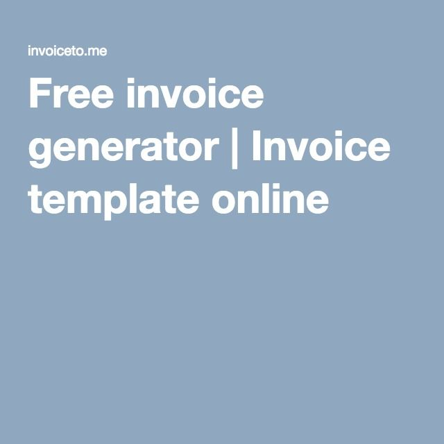 Free invoice generator Invoice template online Blogging Tips - freeinvoice template