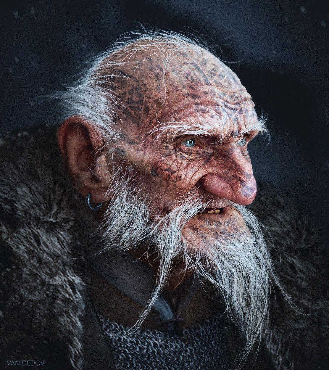 baldur's gate portrait - Google Search | D&D - Dwarves and ... |Dwarf Male Portrait