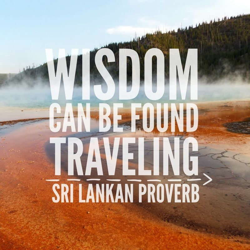 Wisdom can be found traveling Sri