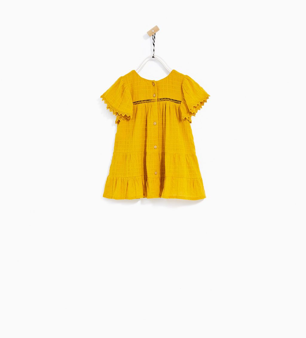 Baby pink dungaree dress  FRILLED OCHRE DRESSDRESSES AND JUMPSUITSBABY GIRL   months