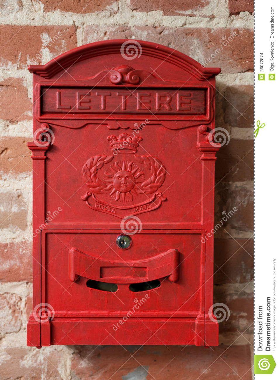 Boite Aux Lettres Rouge En Metal De Vintage Telecharger Parmi Plus