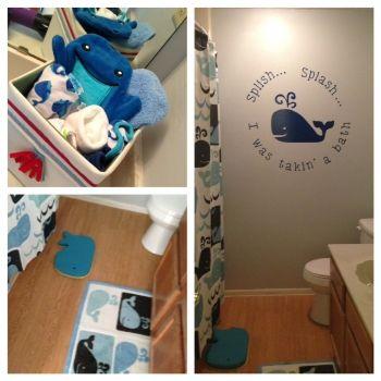 Whale bathroom | Kids Bathroom in 2018 | Pinterest | Whale bathroom ...