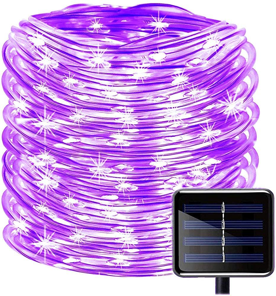 Solar Rope Lights Outdoor 39Ft 100LED LED Lighting Waterproof Copper Wire String