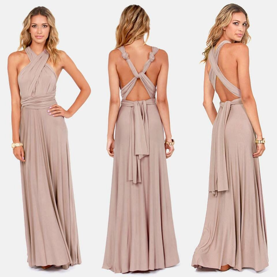 Taupe Maxi Dress. Tons of options! | Fashion Inspiration | Pinterest