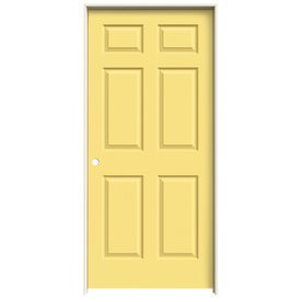 Jeld Wen Colonist Marigold 6 Panel Single Prehung Interior Door (Common: 36