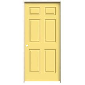 Jeld Wen Colonist Marigold 6 Panel Single Prehung Interior Door (Common: 36