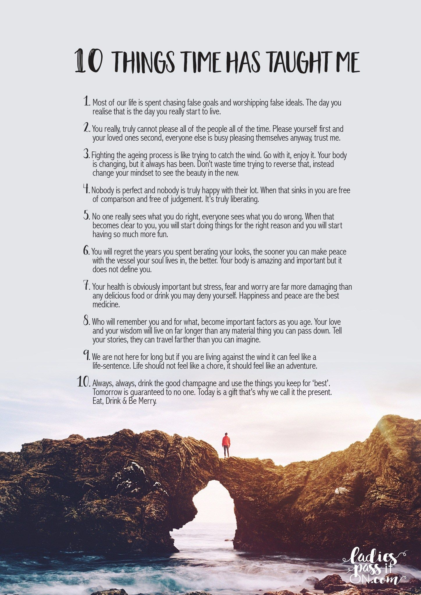 Words of wisdom for loving your life at every age: 10 THINGS TIME HAS  TAUGHT ME By Ali McGraw