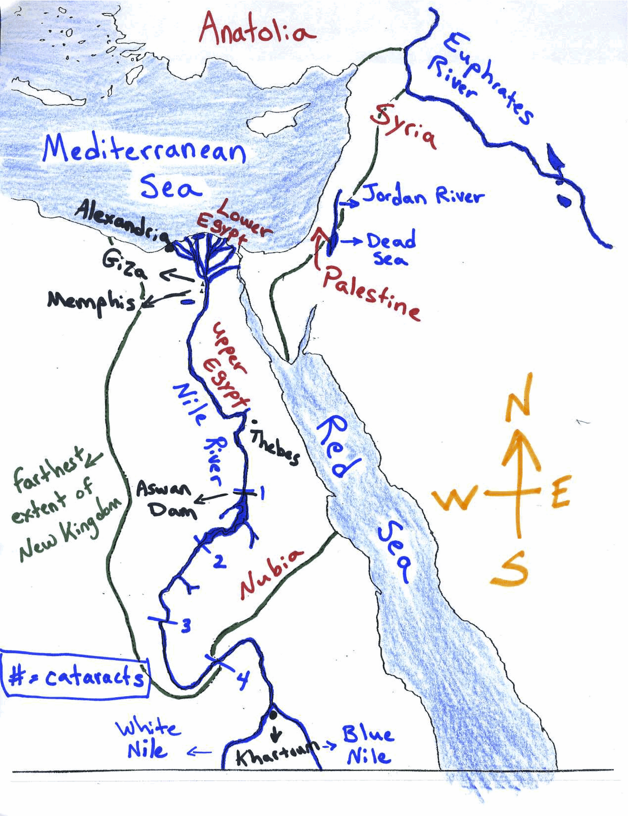 Mr.Guerriero's Blog: Ancient Egypt Map: Blank and Filled-In ... on map of ancient meroe, map of ancient assyria, map of ancient aethiopia, map of ancient axum, map of ancient cairo, map of ancient dynasty, map of ancient harran, map of ancient troy, map of ancient egypt, map of ancient oyo empire, map of ancient nimrud, map of ancient thebes, map of ancient palmyra, map of ancient abu simbel, map of ancient babylon, map of ancient nineveh, map of ancient cush, map of ancient kush, map of ancient esna, map of ancient lagash,