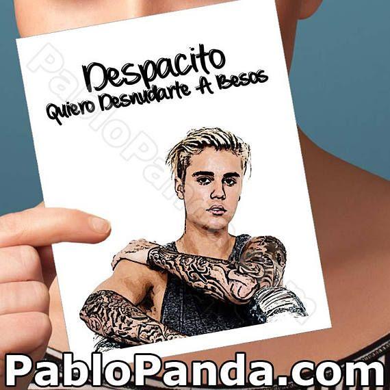 Anniversary Card Justin Bieber Despacito Belieber Funny