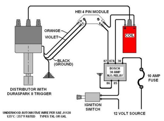 gm hei distributor and coil wiring diagram - yahoo search results | ignition  coil, automotive care, automotive electrical  pinterest