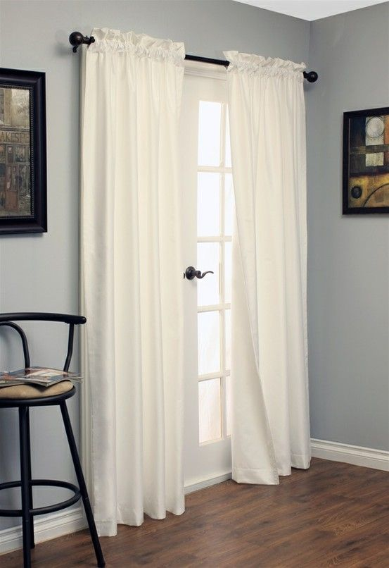 White Curtains black out white curtains : 17 Best images about French Doors (avec Rideaux) on Pinterest