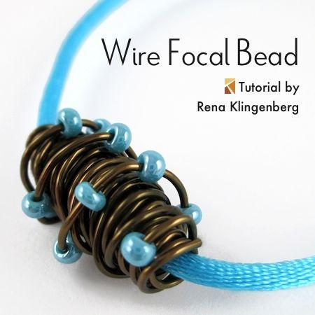 nice DIY Bijoux - Wire Focal Bead (Tutorial) — Jewelry Making ...