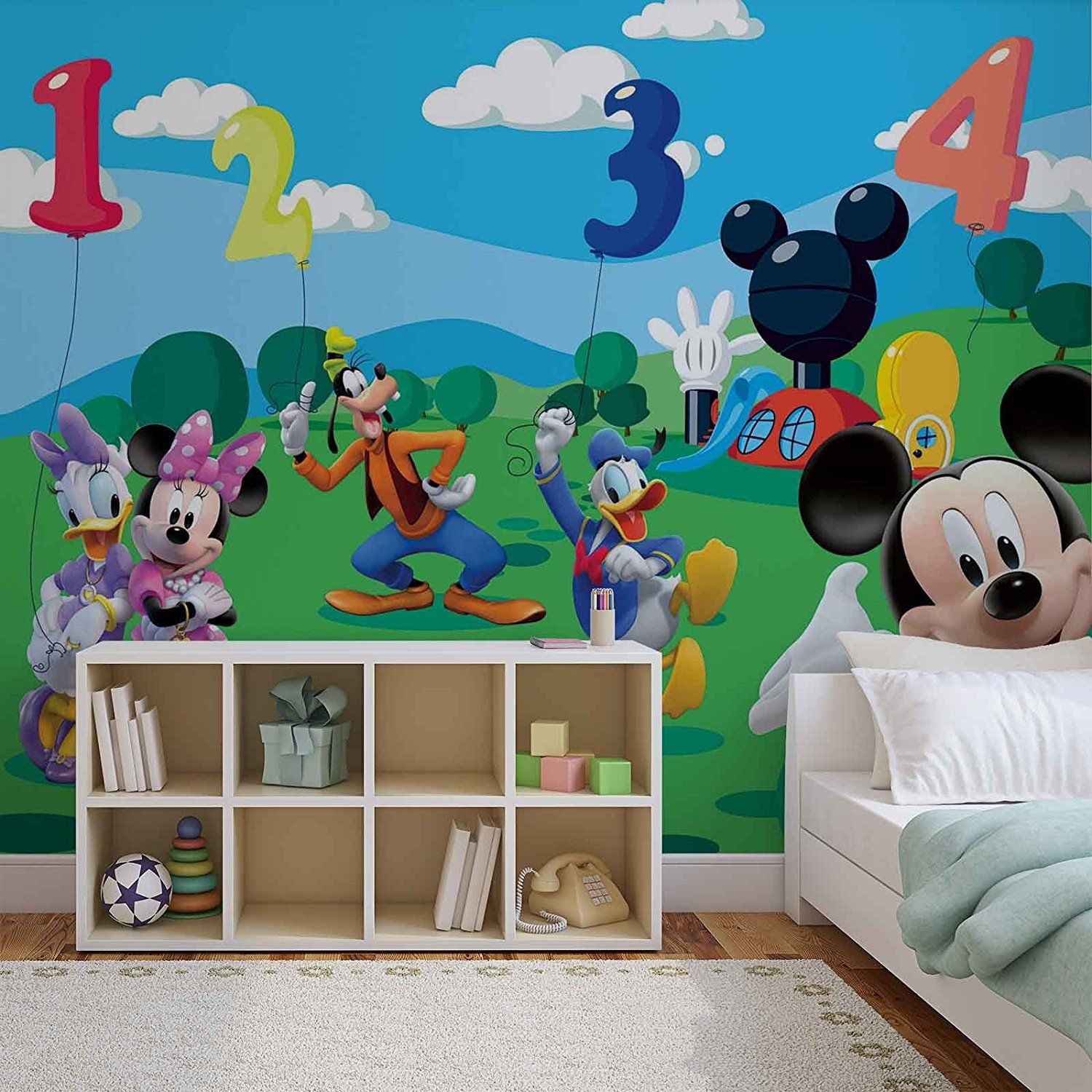 Fototapete Kinderzimmer Minnie Mouse Disney Micky Maus Wallsticker Warehouse Fototapete