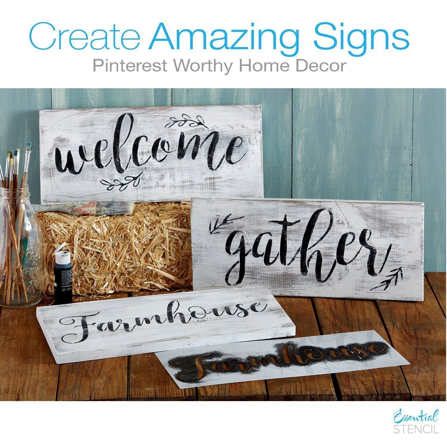DIY Rustic Farmhouse Style signs for your home with these