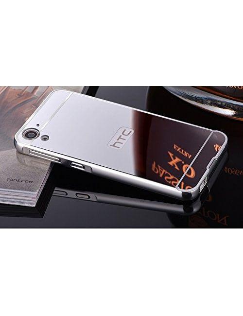 the best attitude e851d 0be76 HTC Desire 826 Metal Finish Mirror/Bumper Back Cover (Case) Silver ...
