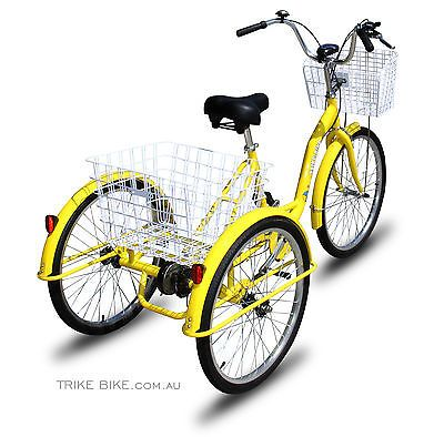 Details About Trike Bike Adult Tricycle 24 Aluminium 3 Wheeled
