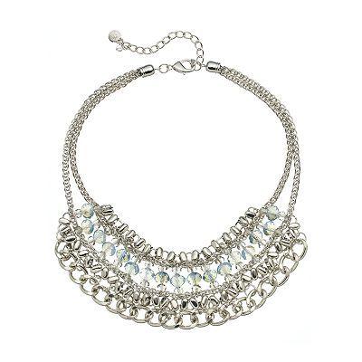 Simply Vera Vera Wang Bead Bib Necklace