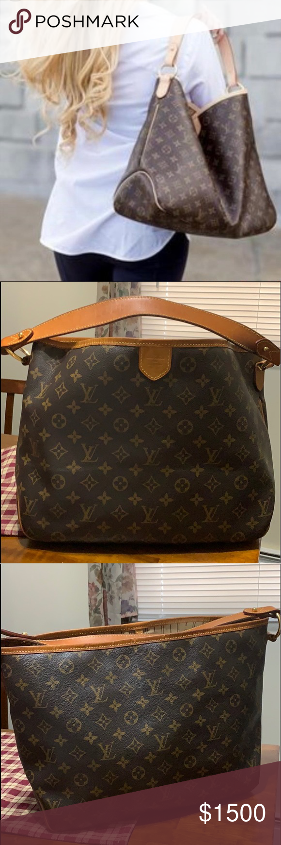 b58fa4ac9b5f Gorgeous gently used preloved 💯 % Authentic Louis Vuitton Delightful PM  monogram hobo bag