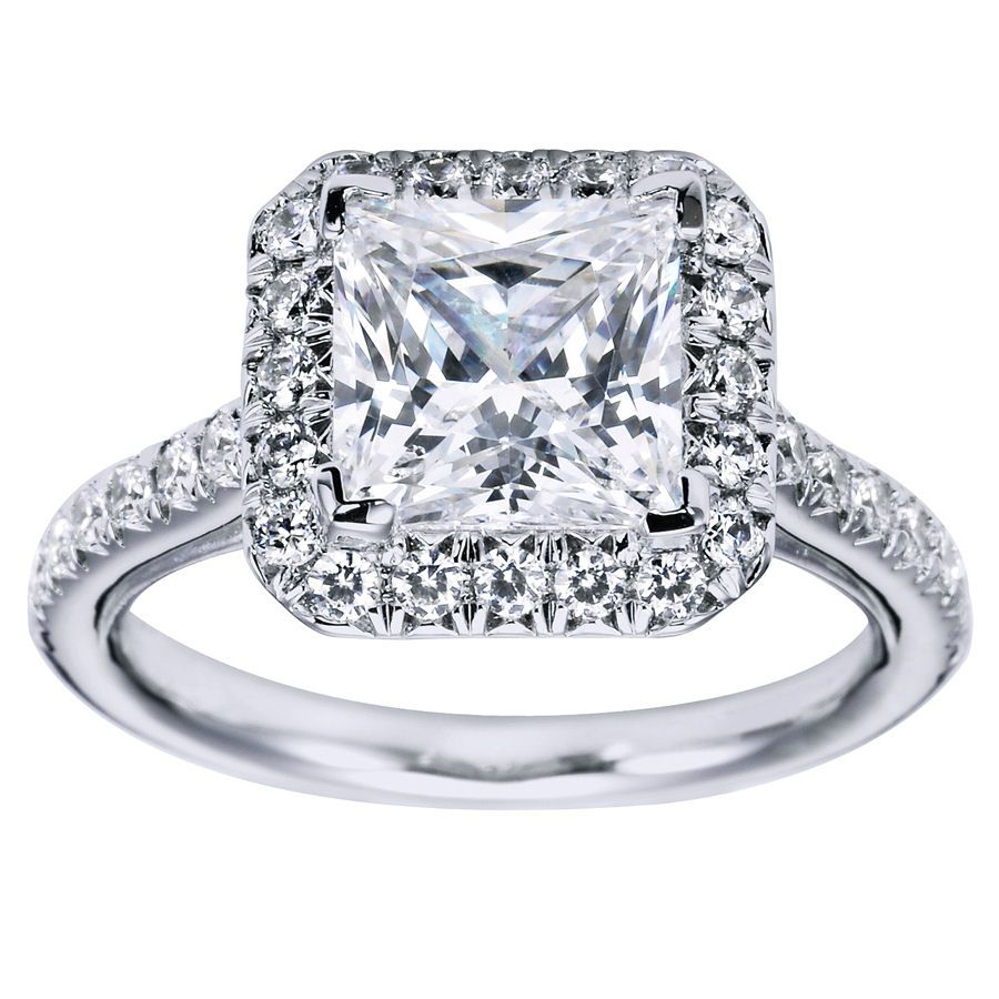 princess rings princess cut halo engagement ring setting 27 gerry the jeweler - Wedding Ring Princess Cut