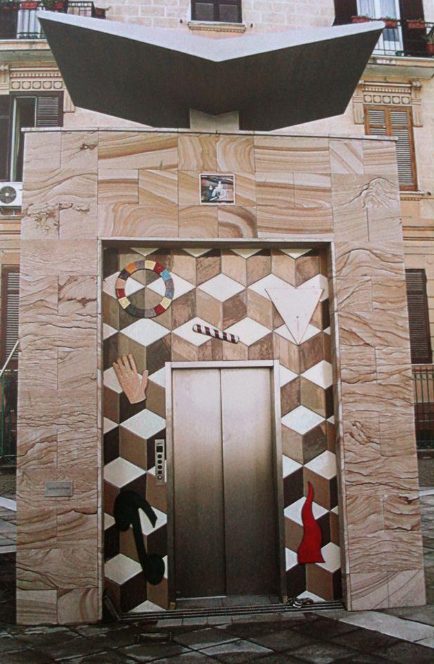 Alessandro Mendini, métro de Naples, ascenseur, 2003 Design espace