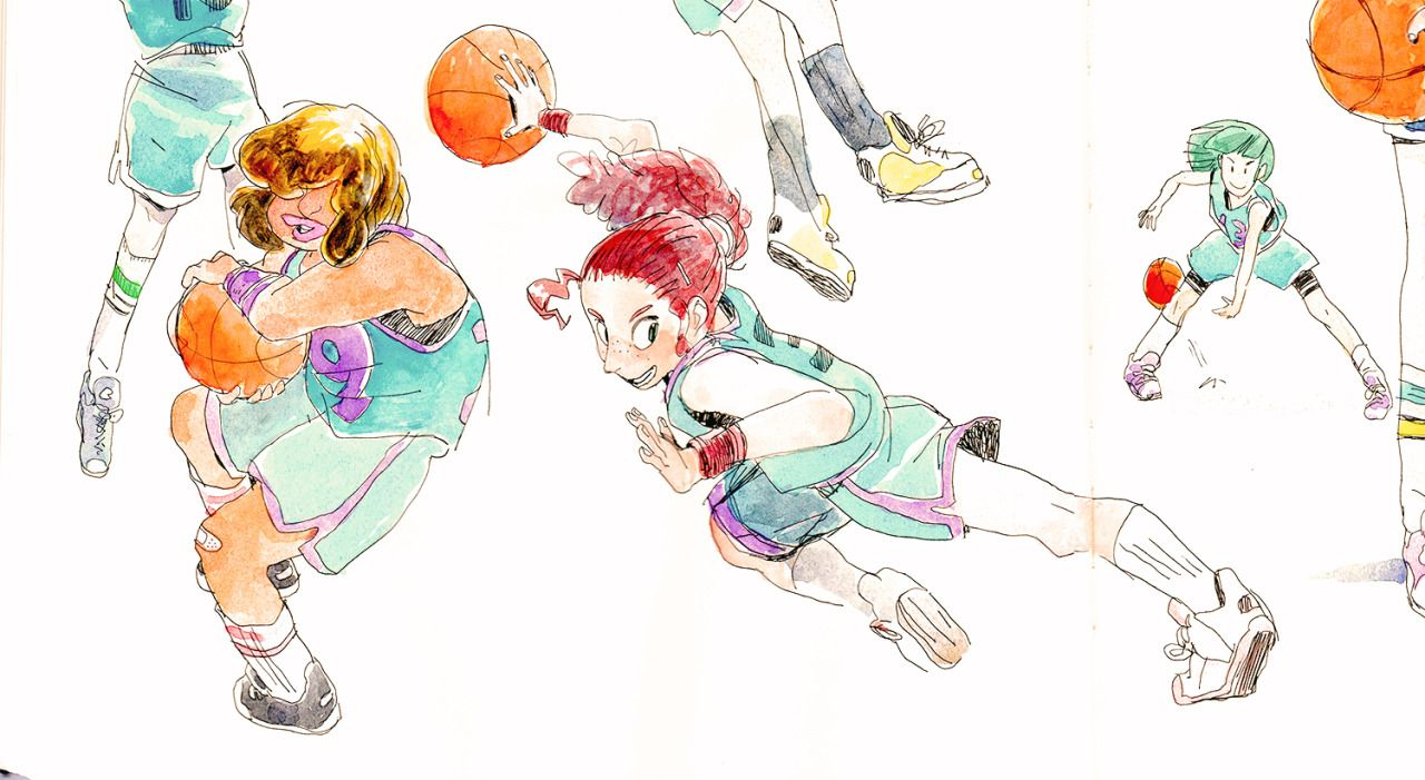 I have a confession to make: I love sports manga. I have been watching Slam Dunk on Crunchy Roll, and it is making me want to draw girls playing basketball all the time. Yowapeda has also recently become a favorite. And I feel like I can't begin a conversation about sports manga without bringing up Adachi Mitsuru, who is basically the king of comics. What else am I missing? What's your favorite sports manga/anime?
