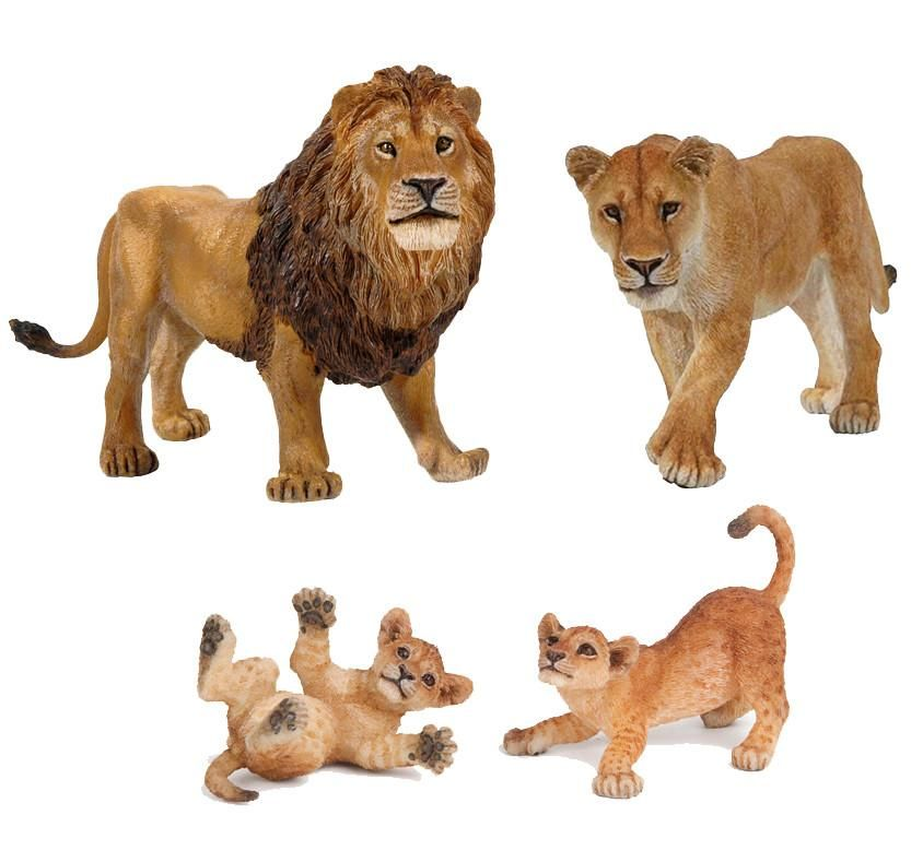 African White Lion Figure Wild Animal Panthera leo Model Collector Toy Kids Gift