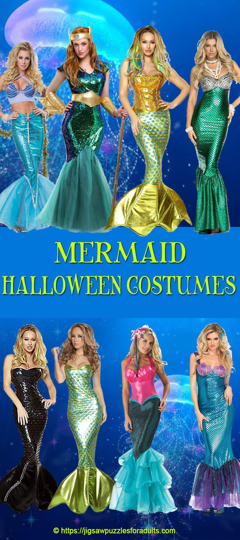 Mermaid Halloween Costumes For Women Mermaid halloween