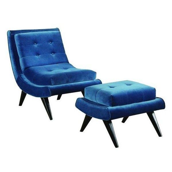 Strange 5Th Avenue Velvet Armless Swayback Lounge Chair In Cerulean Spiritservingveterans Wood Chair Design Ideas Spiritservingveteransorg