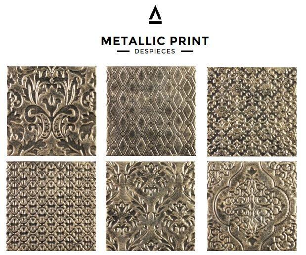 #Cerámica #Vintage colección Metallic de #Collage