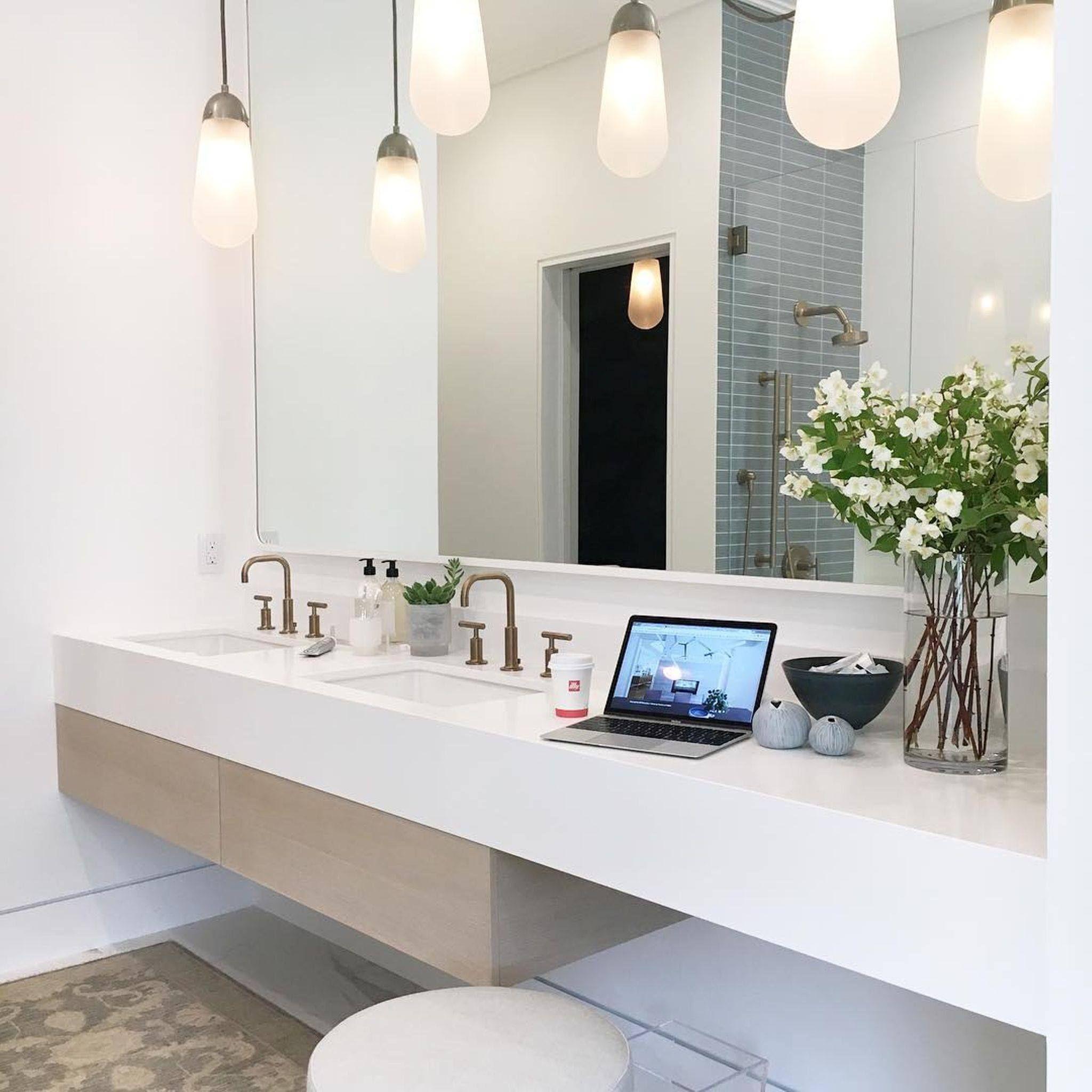 Vanity View Of Modern And Clean Bathroom