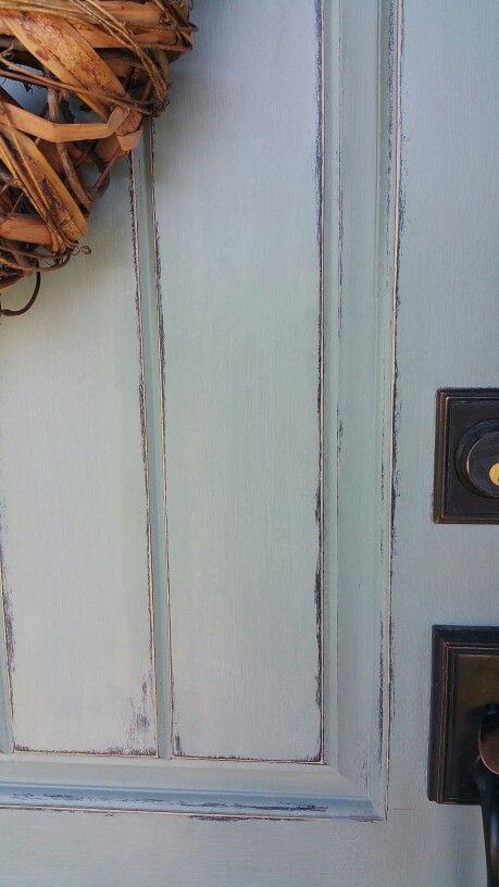 Front Door Annie Sloan Chalk Paint Duck Egg Blue