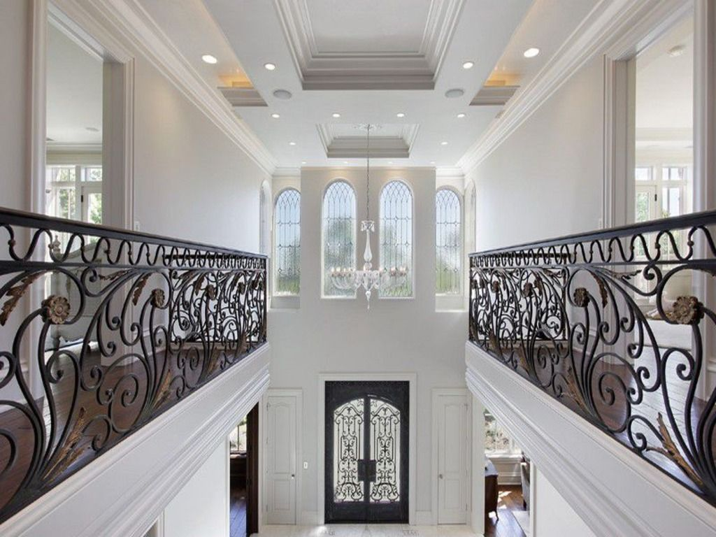 Foyer Upstairs Landing   Italian Villa In Glencoe, IL Custom Built By Tara Designer  Homes