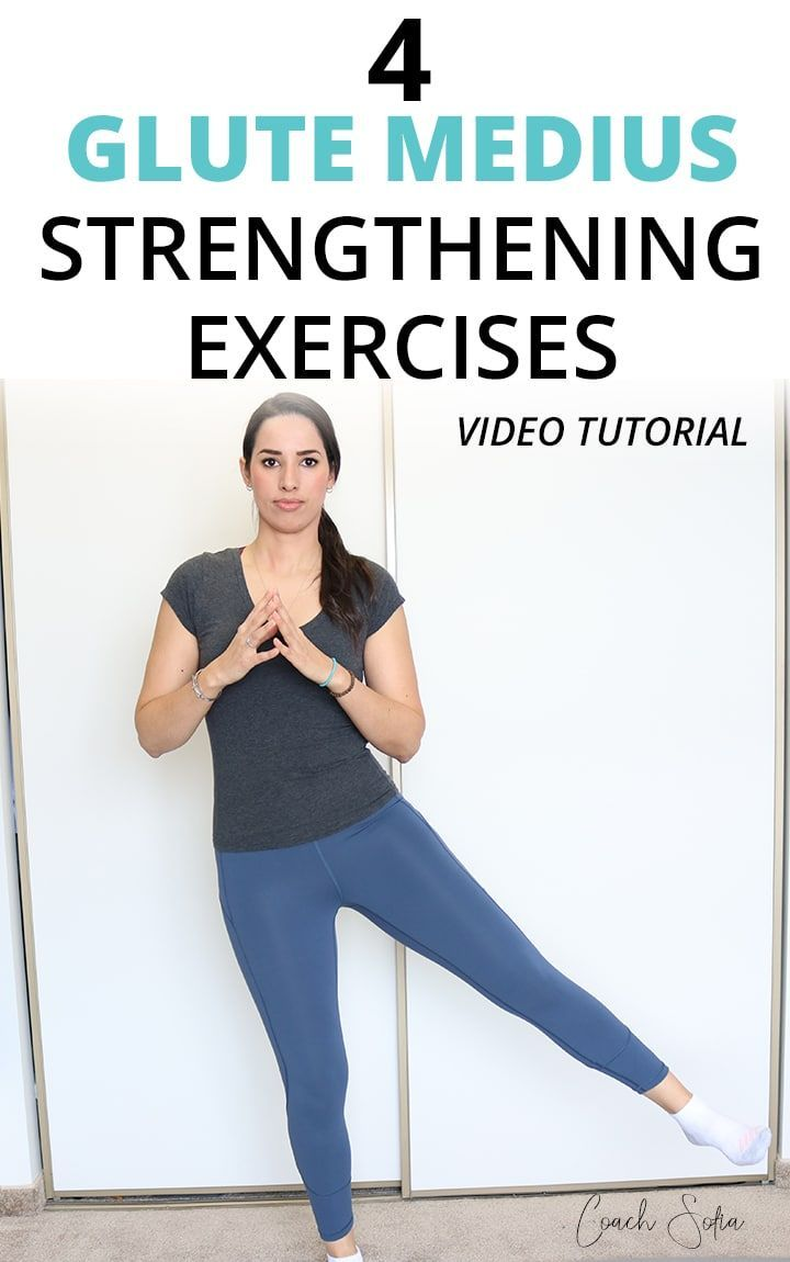 Here are 4 banded glute medius strengthening exercises to