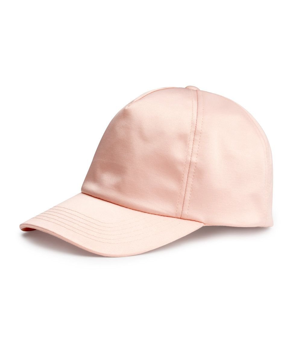 a75cb5aaece Pink satin baseball cap.  HMPASTELS