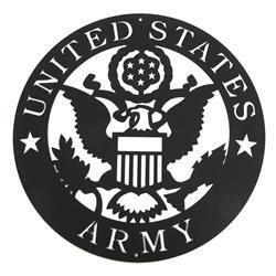 Army Emblem Metal Silhouette   Scenic art, Grey wall art ...