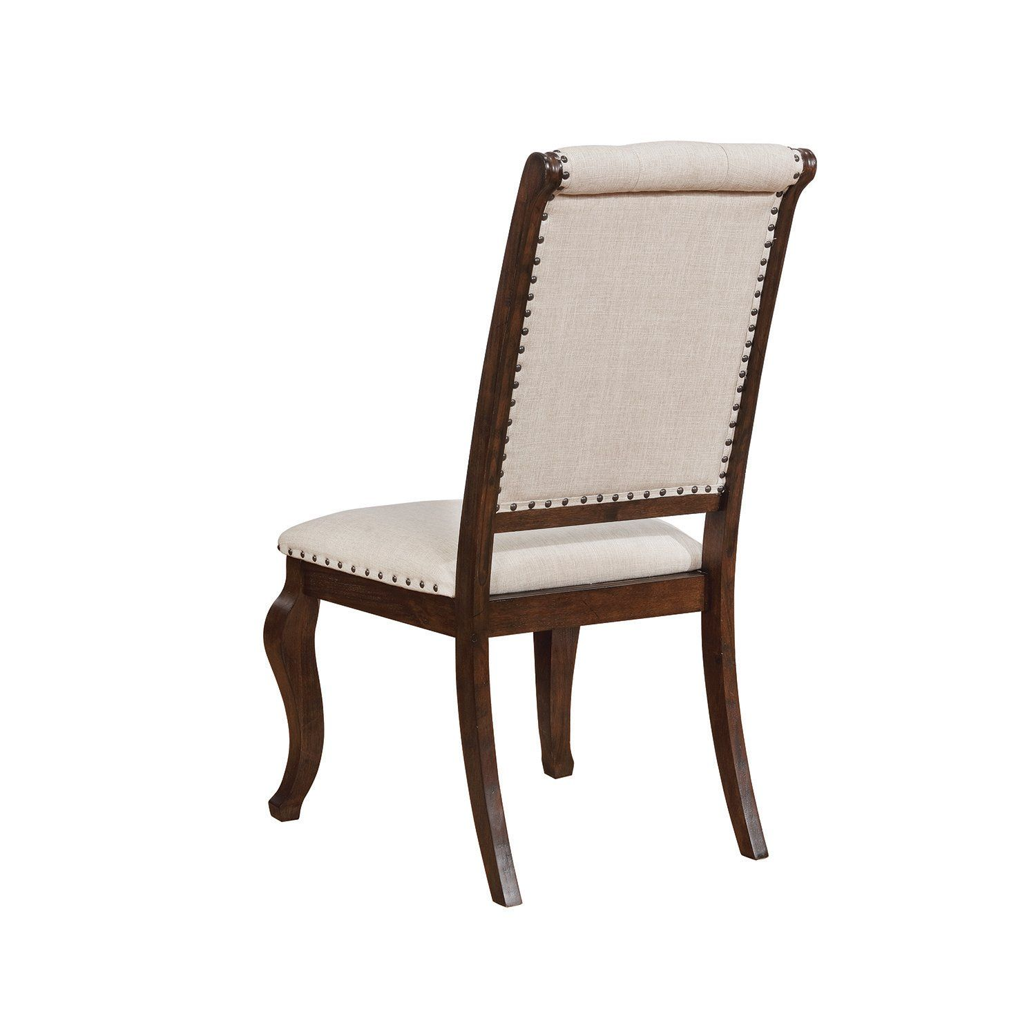Fantastic Coaster Glen Cove Cream Fabric Antique Java Leg Side Chair Bralicious Painted Fabric Chair Ideas Braliciousco