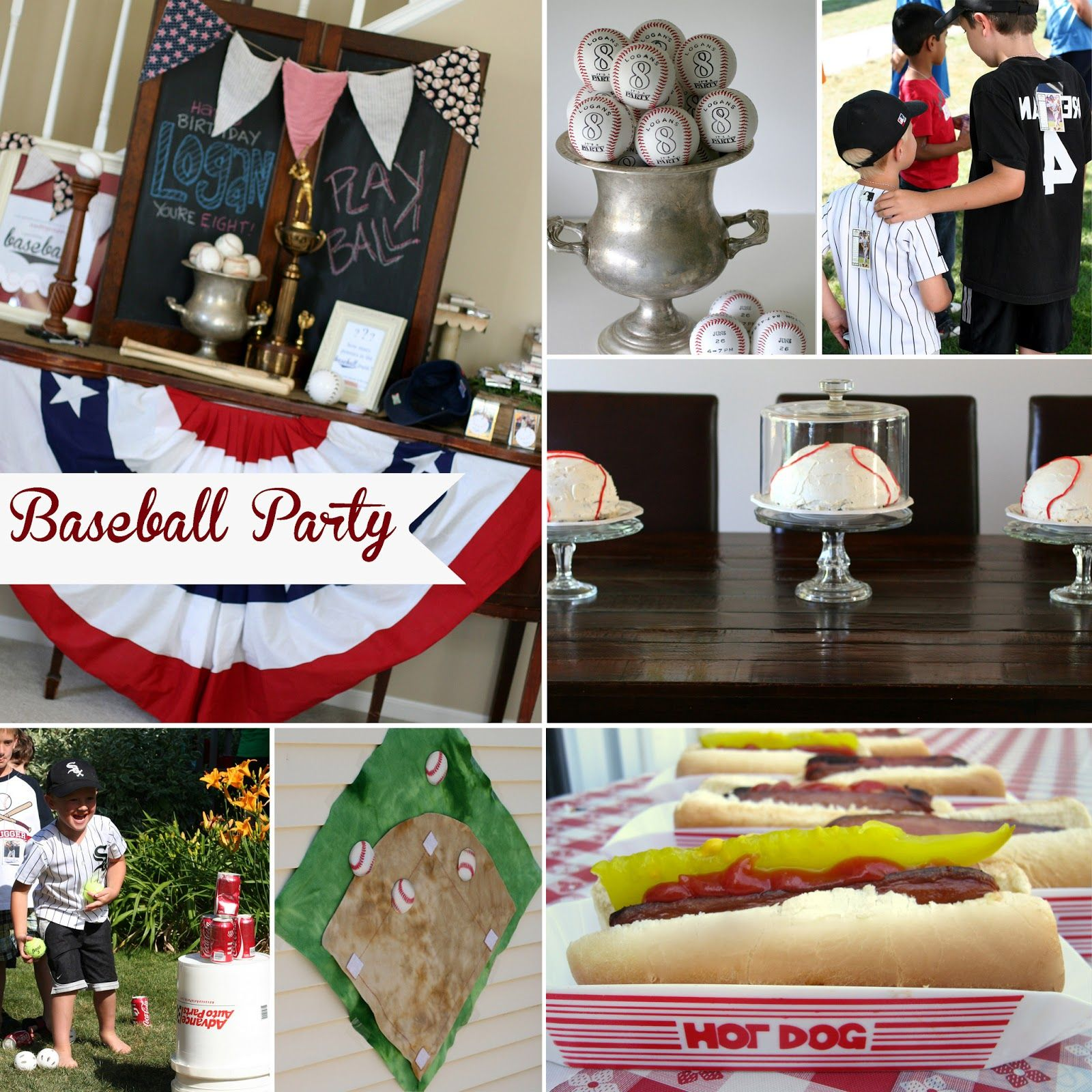 Baseball birthday party for 8 year old boys boy birthday
