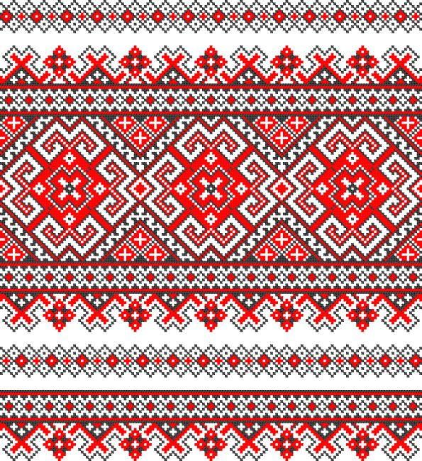 Схема вышивки крестом орнамент украинские