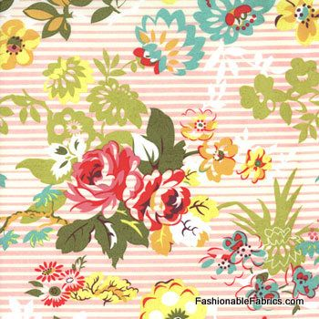 Fabric... Hello Luscious Floral Blissful in Pink by BasicGrey