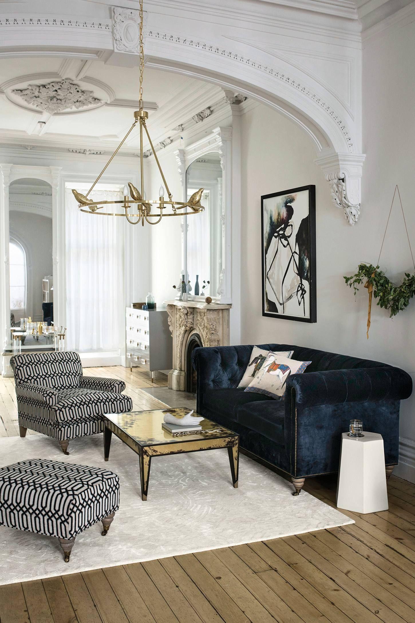 Decoration Salon Chesterfield 2021 Di 2020 Dekorasi Rumah Elegan Ruang Tamu Modern Desain Kamar