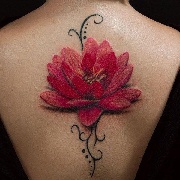 lotus flower tattoo designs tattoos pinterest lotusbl te wundersch n und rot. Black Bedroom Furniture Sets. Home Design Ideas