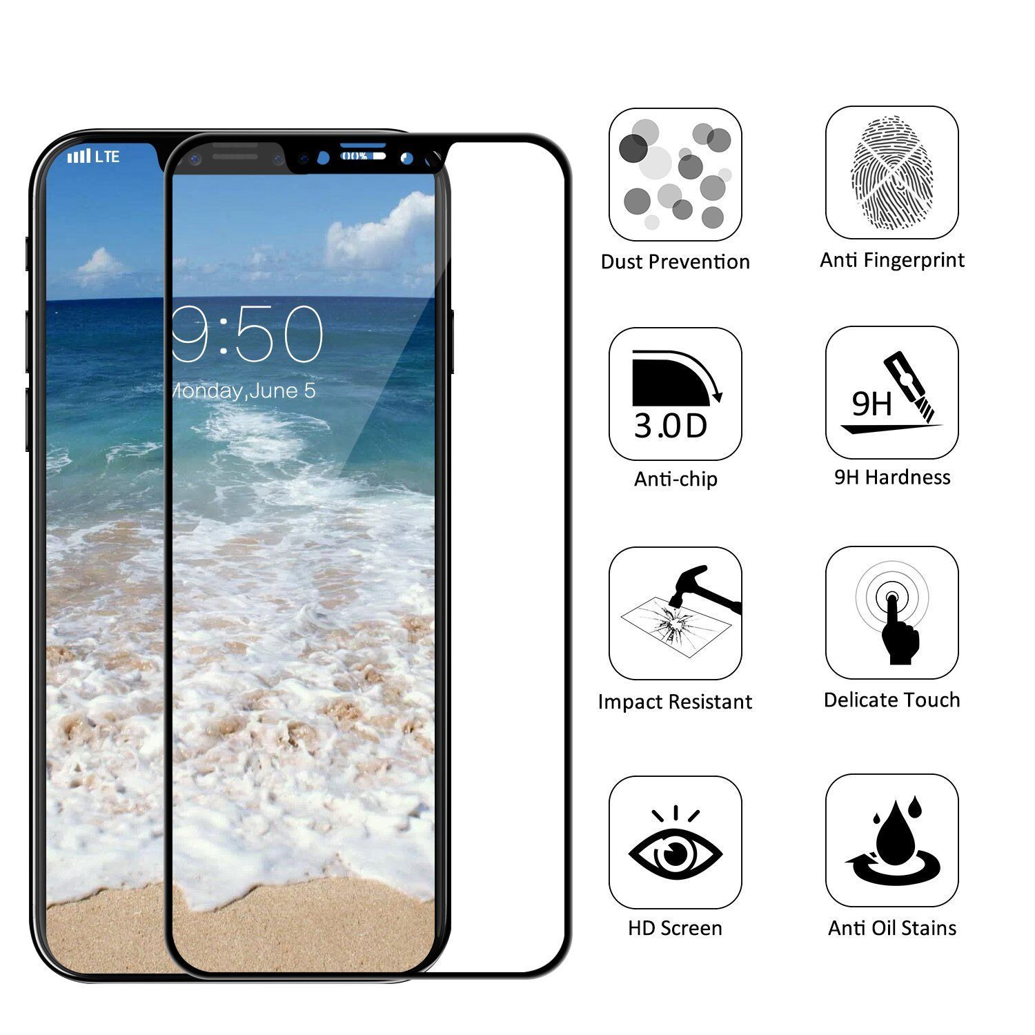 Kitchen Design Software Freeware: Kartice For IPhone X Tempered Glass Screen Protector